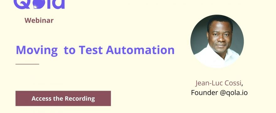 Moving to Test Automation